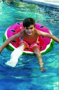 Boy in Pool wearing L20